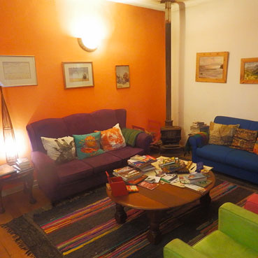 Backpackers lounge