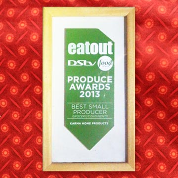 Eat Out Awards certificate