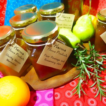 Pear pinotage and rosemary jam