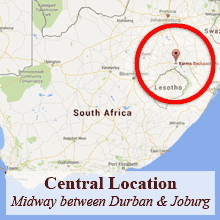 Central Location - Midway between Johanneburg and Durban